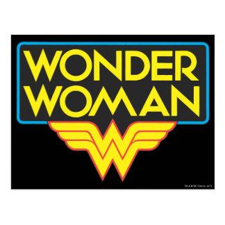 Logotipo 3 de la Mujer Maravilla Postal