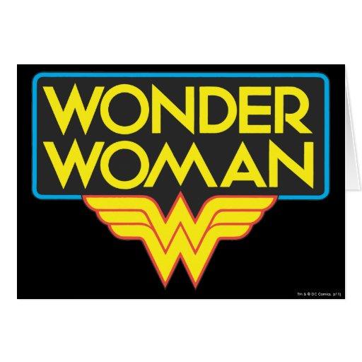 Logotipo 3 de la Mujer Maravilla Tarjeton