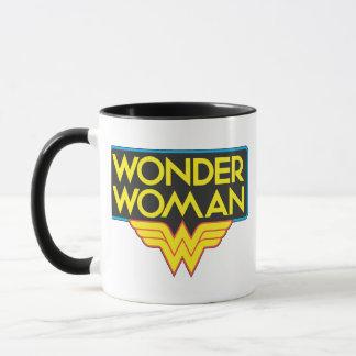 Logotipo 3 de la Mujer Maravilla Taza