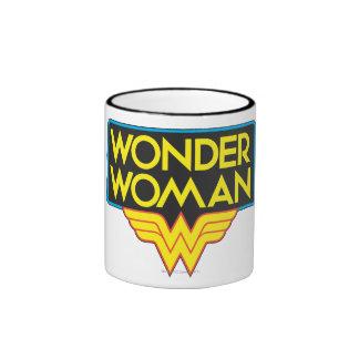 Logotipo 3 de la Mujer Maravilla Taza De Dos Colores