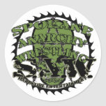 """Logotipo 3"""" del cráneo de S.A.W pegatina redondo"""