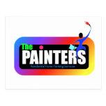 logotipo 4 del pintor postales