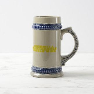 Logotipo 8 de la gestión de la guerrilla jarra de cerveza