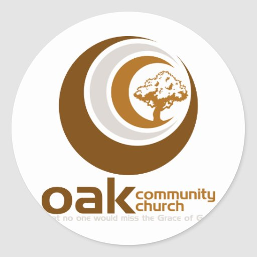 Logotipo a todo color de OCC Pegatina Redonda