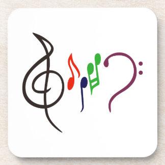 Logotipo abstracto de la música posavaso