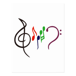 Logotipo abstracto de la música tarjeta postal