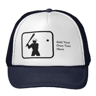 Logotipo adaptable de Baseballer Gorras De Camionero