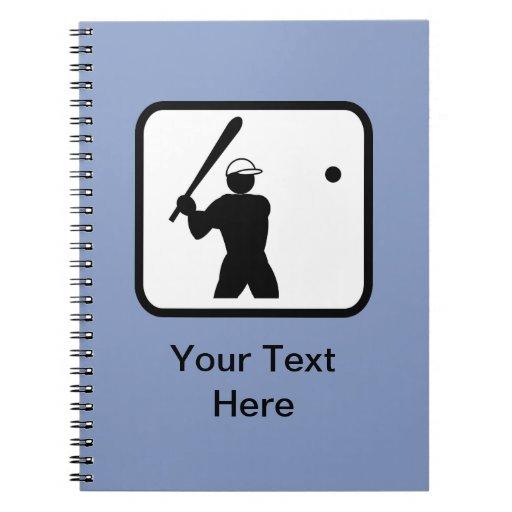 Logotipo adaptable de Baseballer Libretas