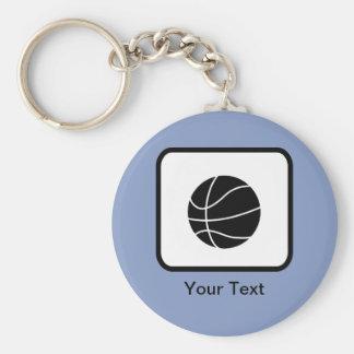 Logotipo adaptable del baloncesto llavero redondo tipo pin