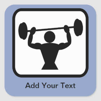 Logotipo adaptable del Bodybuilder/del Calcomanias Cuadradas