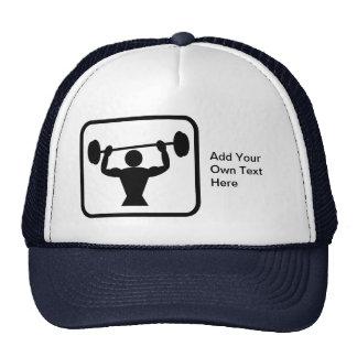 Logotipo adaptable del Bodybuilder/del Weightlifte Gorras