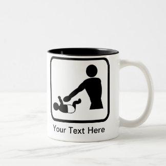 Logotipo adaptable del cambio del bebé para un taza de dos tonos