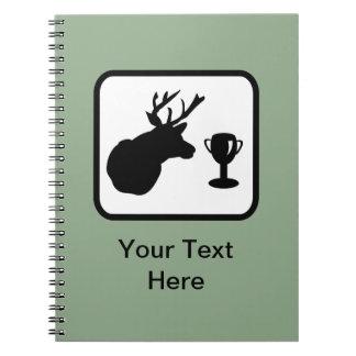Logotipo adaptable del cazador spiral notebook