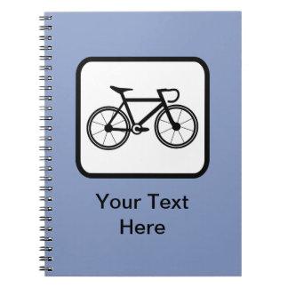 Logotipo adaptable del ciclista libretas