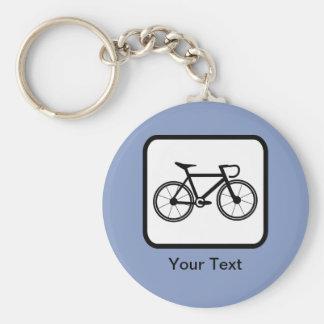 Logotipo adaptable del ciclista llavero