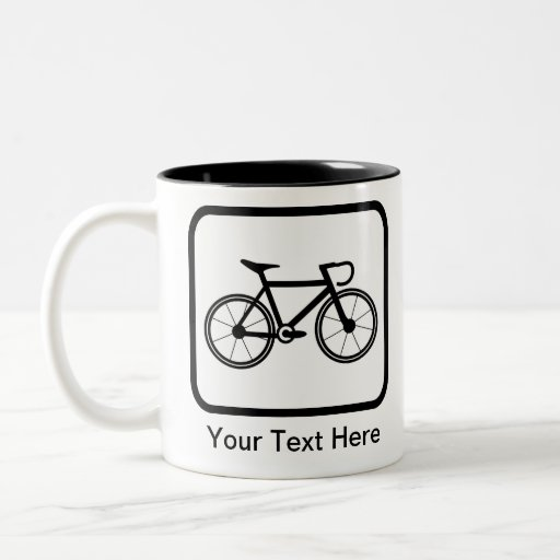 Logotipo adaptable del ciclista tazas