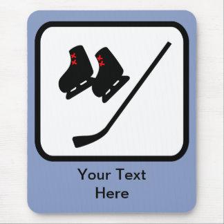 Logotipo adaptable del hockey sobre hielo alfombrillas de ratón