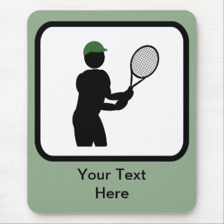 Logotipo adaptable del jugador de tenis tapetes de raton