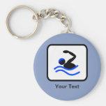 Logotipo adaptable del nadador llaveros personalizados