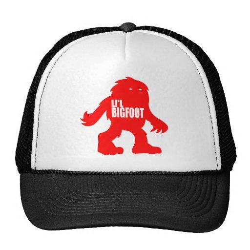 Logotipo adorable de LI'L BIGFOOT - Sasquatch rojo Gorras De Camionero