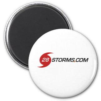 Logotipo agudo de 28storms.com imán redondo 5 cm