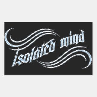 Logotipo aislado de la mente - 1 afiligranado pegatina rectangular