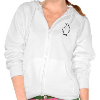 Logotipo alfa del pingüino de la phi de la theta sudaderas