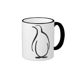 Logotipo alfa del pingüino de la phi de la theta taza de dos colores