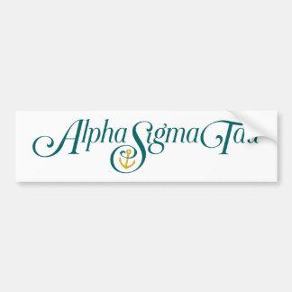 Logotipo alfa del Tau de la sigma ningún Tagline Pegatina Para Auto