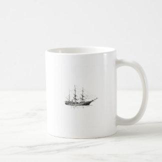 Logotipo alto de la nave taza