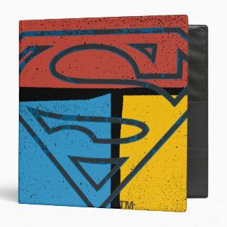 "Logotipo amarillo azul rojo del bloque del carpeta 1 1/2"""