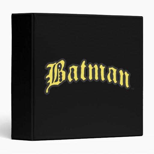 Logotipo amarillo de Batman