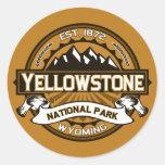 Logotipo amarillo de oro del parque nacional de Ye Etiquetas