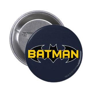 Logotipo amarillo del símbolo el | de Batman y Pin Redondo De 2 Pulgadas