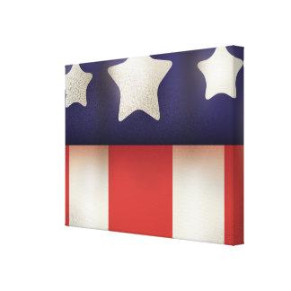 Logotipo americano del super héroe lienzo envuelto para galerias