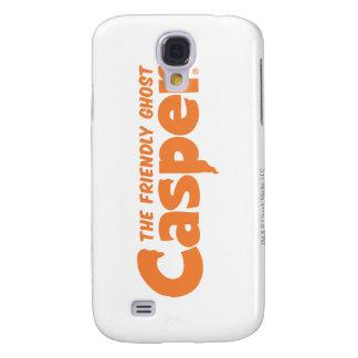 Logotipo anaranjado 1 de Casper Funda Samsung S4