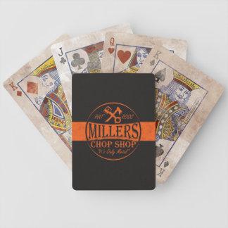 Logotipo anaranjado de Roces de la rata Cartas De Juego