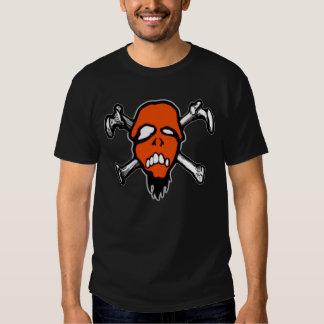 Logotipo anaranjado del cráneo de RottenMouth Remeras