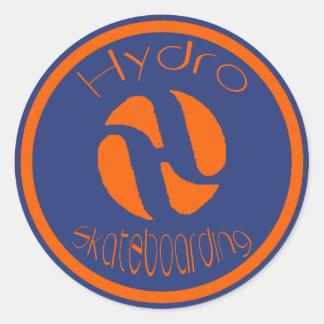 Logotipo anaranjado pegatina redonda