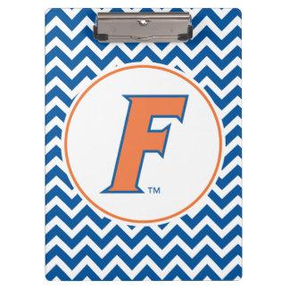Logotipo anaranjado y azul de la Florida F
