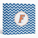 """Logotipo anaranjado y azul de la Florida F Carpeta 1 1/2"""""""