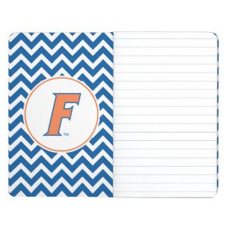 Logotipo anaranjado y azul de la Florida F Cuaderno