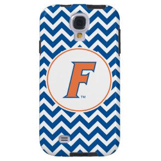 Logotipo anaranjado y azul de la Florida F Funda Para Galaxy S4
