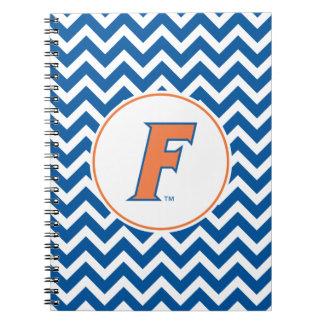 Logotipo anaranjado y azul de la Florida F Libreta Espiral
