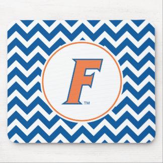 Logotipo anaranjado y azul de la Florida F Mousepad