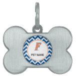 Logotipo anaranjado y azul de la Florida F Placas De Nombre De Mascota