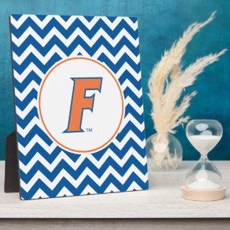 Logotipo anaranjado y azul de la Florida F Placas Con Fotos