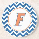 Logotipo anaranjado y azul de la Florida F Posavasos Para Bebidas