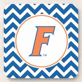 Logotipo anaranjado y azul de la Florida F Posavasos