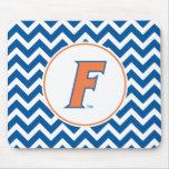 Logotipo anaranjado y azul de la Florida F Tapete De Ratón